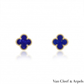 Van Cleef & Arpels Lapis SweetAlhambra Earrings